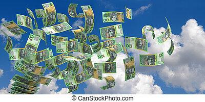 australien, voler, dollar
