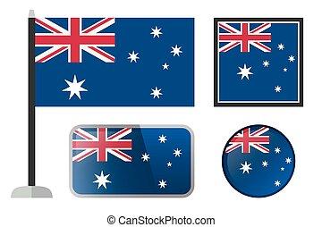 australijska bandera, icons.