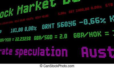 australijski dolar, krople, 0.7%, na, zainteresujcie stosunek, spekulacja