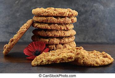 australische, anzac, kekse