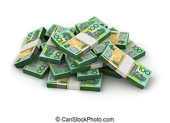 australische dollar, stapel
