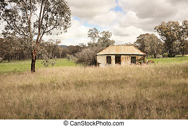 australský, yesteryear, usedlost