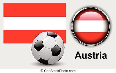 austria旗, 圖象