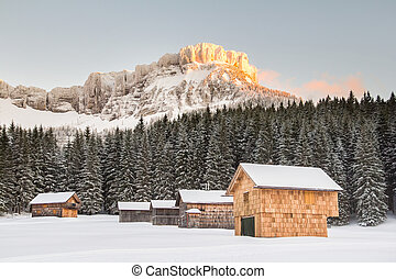 austria alps winter landscape