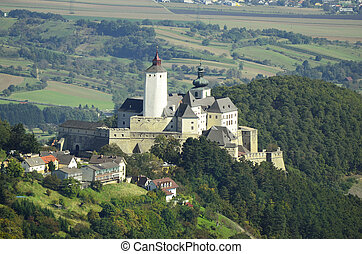 Austria, castle Forchtenstein in Burgenland, includes a museum and is place for different exhibitions and events