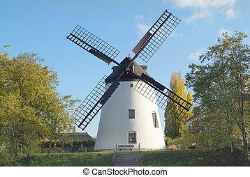 Austria, old windmill in Podersdorf