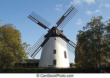 Austria, wind mill in Podersdorf on the Neusiedler lake, the landmark of the village