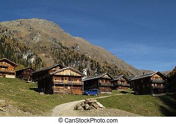 Austria, rentable cottages on Staller alp in East Tyrol