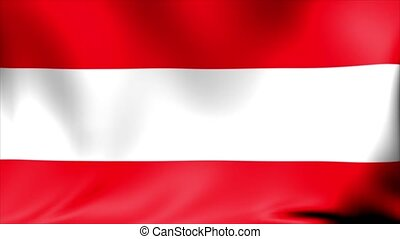 Austria Flag. Background Seamless Looping Animation. 4K High Definition Video.