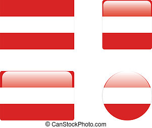 Austria flag & buttons
