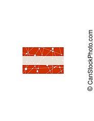 Austria flag concept