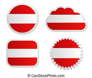 Austria flag labels