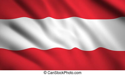 Austria flag Motion video waving in wind. Flag Closeup 1080p HD footage