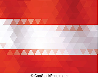 Austria flag of vector