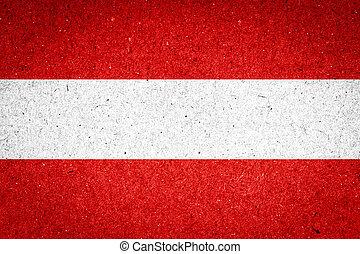 Austria flag on paper background