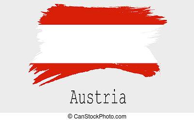 Austria flag on white background