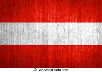 Austria Flag on wood background