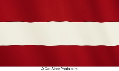Austria flag waving animation. Full Screen. Symbol of the country.