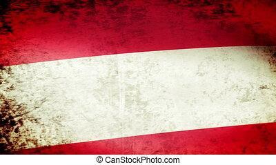 Austria Flag Waving, grunge