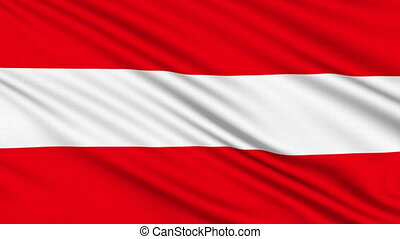 Austria Flag, with real structure of a fabric
