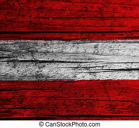Austria flag with texture on background