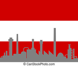 austria, industria, bandiera