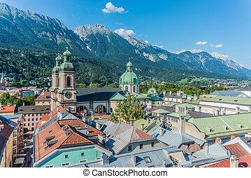 austria., innsbruck, aanzicht, westelijk, algemeen