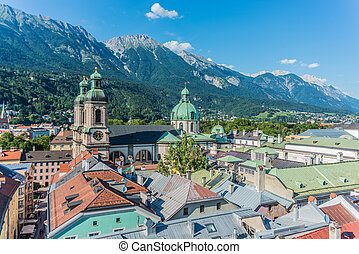 austria., innsbruck, vista, occidentale, generale