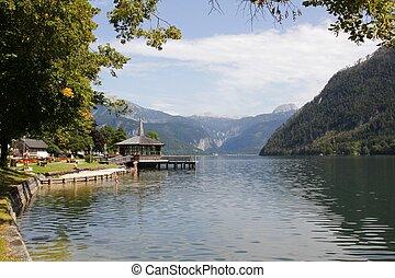 Austria lake and mountains - Austria panorama of the lake...