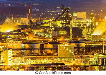 austria, linz, área industrial