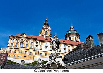 Austria, Lower Austria, Melk Abbey, - Melk Abbey in Lower ...