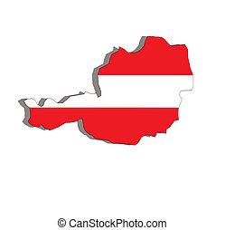 austria map and flag