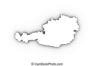 Austria map in white