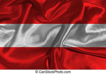 Austria national flag 3D illustration symbol.