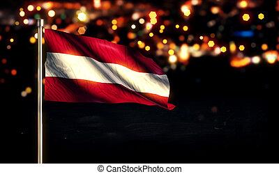 Austria National Flag City Light