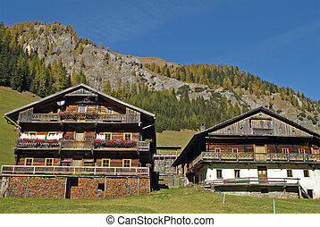 Austria, farm house in traditional style in Villgraten Valley, East Tyrol