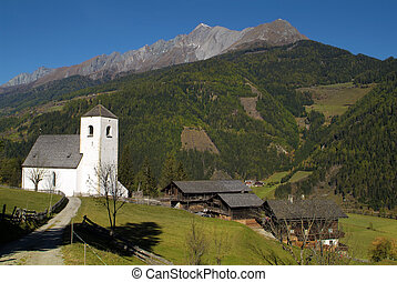 Austria, Matrei,  Church of St. Nicholas built in the 12th century in Romanesque style