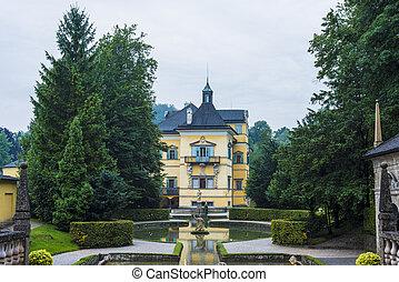 austria., palast, salzburg, hellbrunn