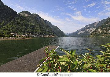 Austria panorama of the lake