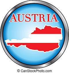Austria Round Button