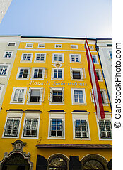austria, salzburg, mozart's birthplace - the birthplace of...