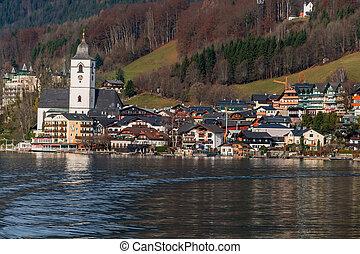 austria, salzkammergut, wolfgangsee, st. wolfgang