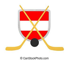 Austria shield ice hockey isolated