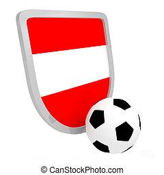 Austria shield soccer isolated