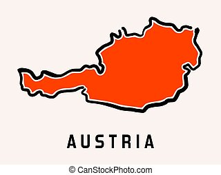 Austria simplified map