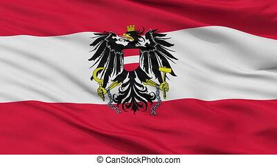 Austria State Flag Closeup Seamless Loop - Austria State...