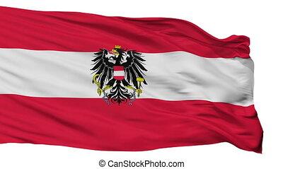 Austria State Flag Isolated Seamless Loop - Austria State...