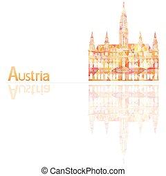 austria, symbol, wektor, ilustracja