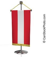 Austria table flag isolated on white