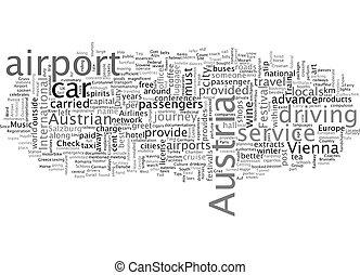 Austria text background wordcloud concept